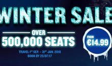 Ryanair Winter Sale: tickets across Europe from 3.99€!